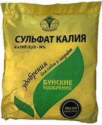Калийное удобрение сульфат калия